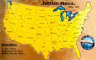 Wall Map of Nationwide Lumbering Business